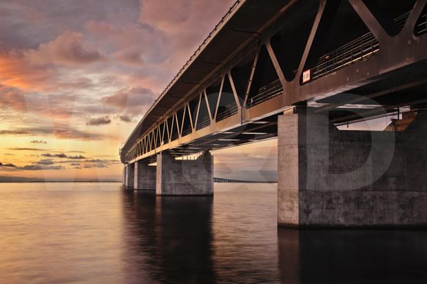 Öresundsbron mellan Malmö och Köpenhamn.