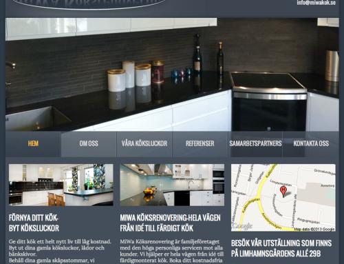 MiWa Köksrenovering har fått en ny webbplats