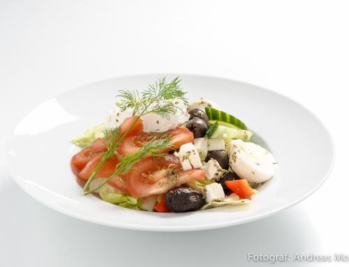 Fotografering av grekisk mat